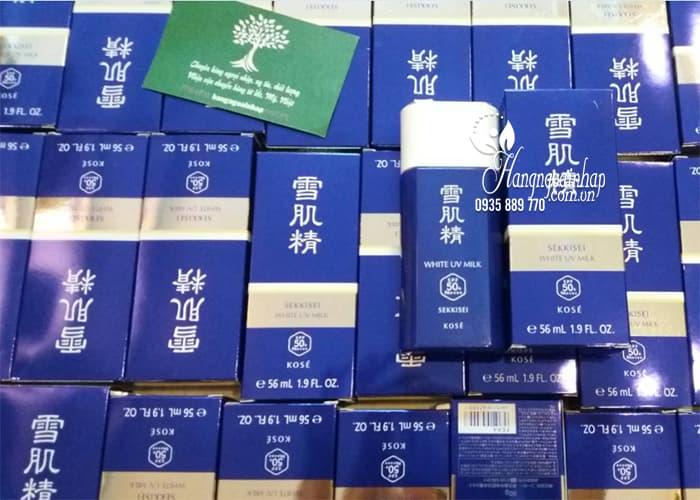 Kem chống nắng Kose Sekkisei White UV Milk 56ml của Nhật 6