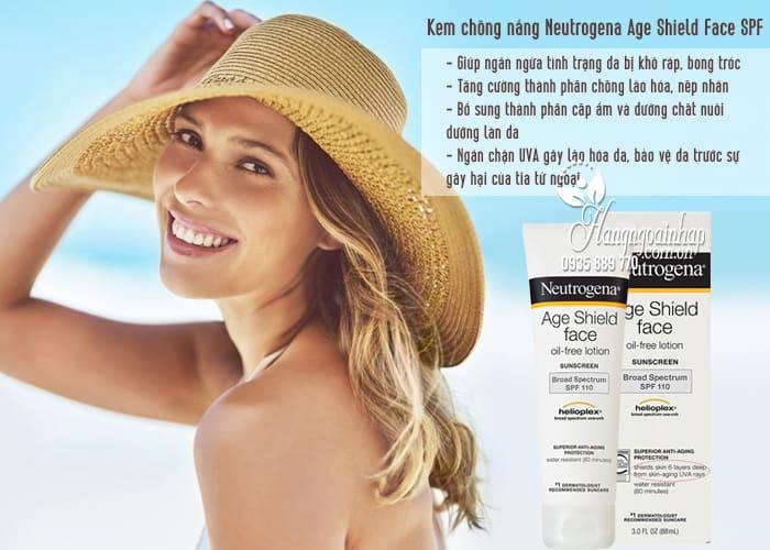 Kem chống nắng Neutrogena Age Shield Face SPF 110 của MỹKem chống nắng Neutrogena Age Shield Face SPF 110 của Mỹ 3