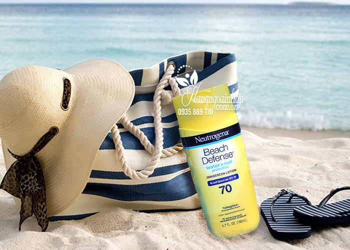 Kem chống nắng Neutrogena Beach Defense SPF 70 198ml của Mỹ