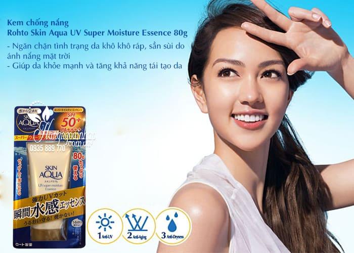 Kem chống nắng Rohto Skin Aqua UV Super Moisture Essence 80g 3
