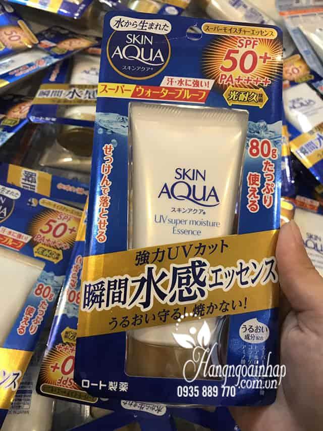 Kem chống nắng Rohto Skin Aqua UV Super Moisture Essence 80g 5