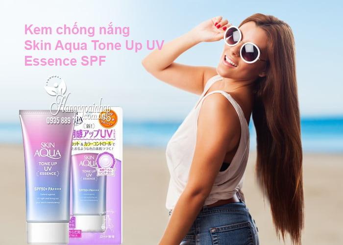 Kem chống nắng Skin Aqua Tone Up UV Essence SPF 50 Nhật Bản 1