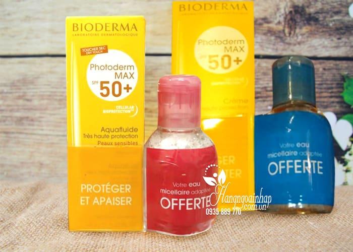 Set kem chống nắng Bioderma kèm dầu tẩy trang của Pháp 1