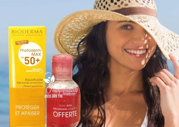 Set kem chống nắng Bioderma kèm dầu tẩy trang của Phápv 2