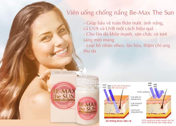 Viên uống chống nắng Be-Max The Sun 30 viên của Nhật 3