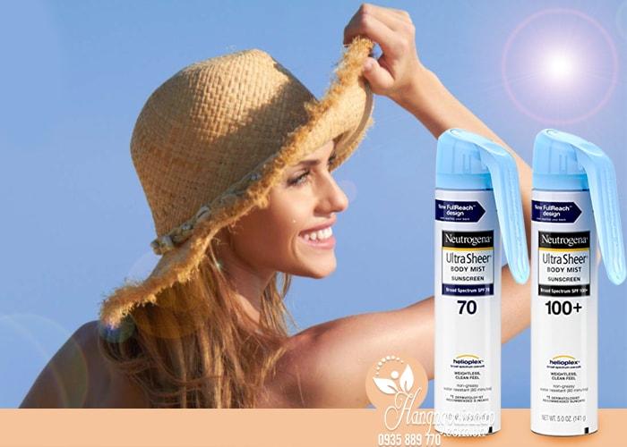 Xịt chống nắng Neutrogena Ultra Sheer Body Mist 141g nhập từ Mỹ