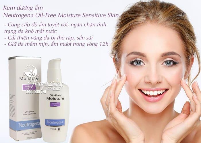Kem dưỡng ẩm Neutrogena Oil-Free Moisture Sensitive Skin 3