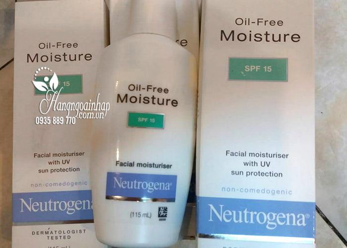 Kem dưỡng ẩm Neutrogena Oil-Free Moisture SPF15 của Mỹ 115ml 4