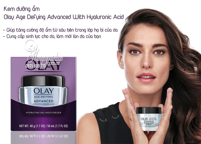Kem dưỡng ẩm Olay Age Defying Advanced With Hyaluronic Acid 3