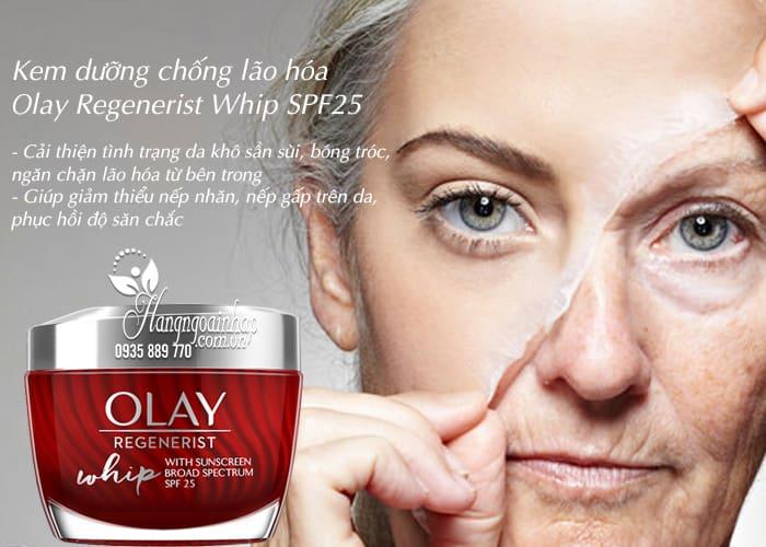 Kem dưỡng chống lão hóa Olay Regenerist Whip SPF25 của Mỹ 5