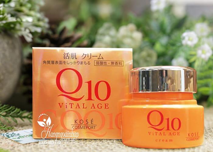 Kem dưỡng da chống lão hóa Kose Q10 Vital Age của Nhật 1