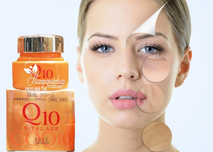 Kem dưỡng da chống lão hóa Kose Q10 Vital Age của Nhật 4