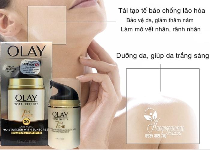 Kem dưỡng da chống lão hóa Olay Total Effects 7 in 1 SPF15 của Mỹ