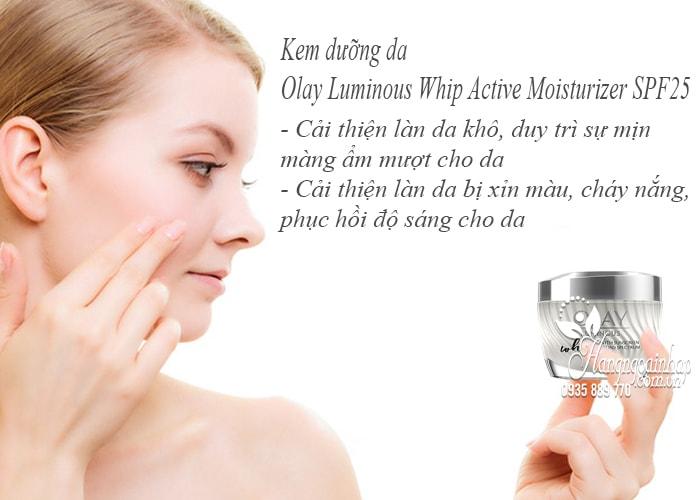 Kem dưỡng da Olay Luminous Whip Active Moisturizer SPF25 4