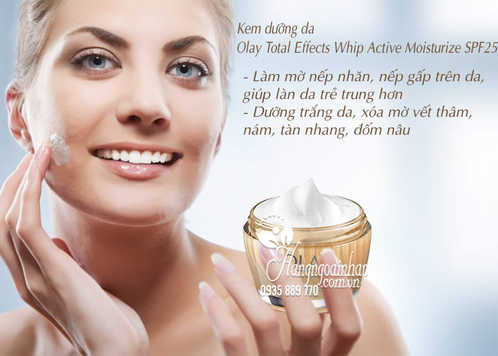 Kem dưỡng da Olay Total Effects Whip Active Moisturize SPF25 3