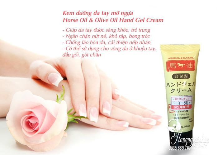 Kem dưỡng da tay mỡ ngựa Horse Oil & Olive Oil Hand Gel Cream 4