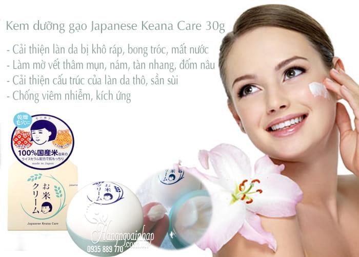 Kem dưỡng gạo Japanese Keana Care 30g, dưỡng trắng da 3