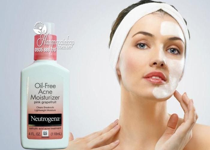 Kem dưỡng Neutrogena Oil Free Acne Moisturizer Pink Grapefruit 2