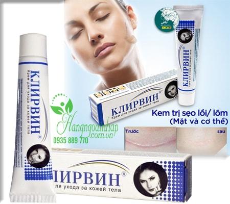 Kem trị sẹo, mụn, rạn da cao cấp Klirvin 25g của Nga