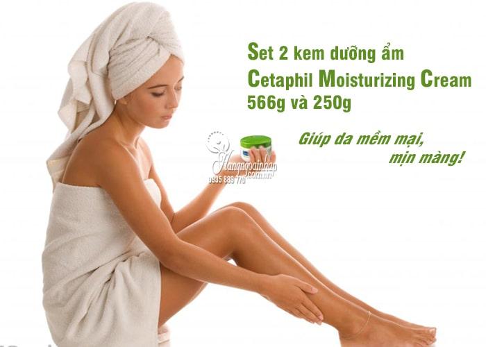 Set 2 kem dưỡng ẩm Cetaphil Moisturizing Cream 566g và 250g 5