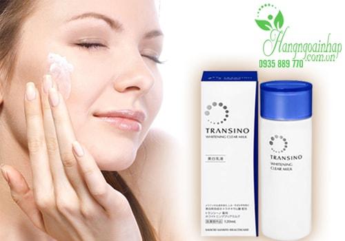 Sữa dưỡng trắng da trị nám Transino Whitening Clear Milk 120ml của Nhật Bản
