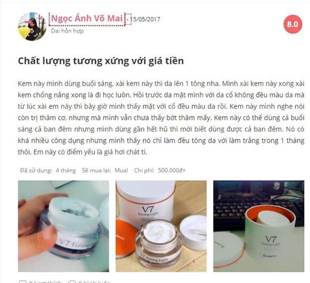 V7 toning light dr jart review từ chị em phụ nữ