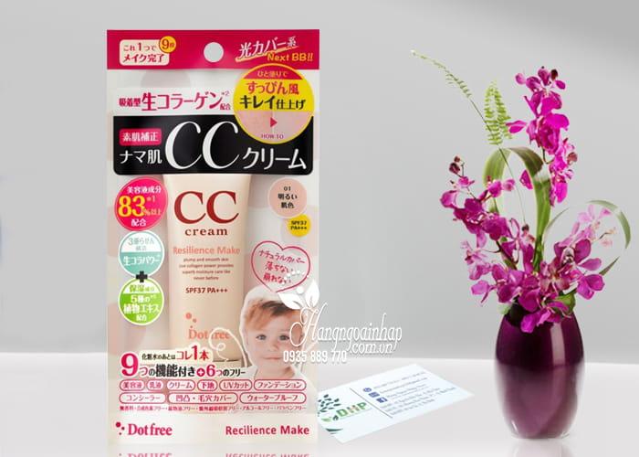 Kem trang điểm CC Cream Collagen tươi Dot Free 25g Nhật Bản 1