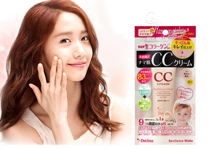 Kem trang điểm CC Cream Collagen tươi Dot Free 25g Nhật Bản 2