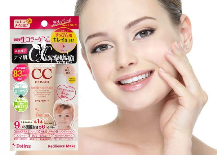 Kem trang điểm CC Cream Collagen tươi Dot Free 25g Nhật Bản 4