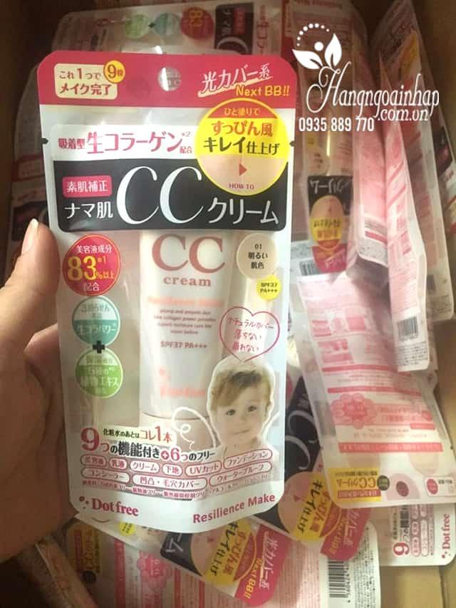 Kem trang điểm CC Cream Collagen tươi Dot Free 25g Nhật Bản 5