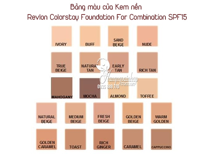 Kem nền Revlon Colorstay Foundation For Combination SPF15 3