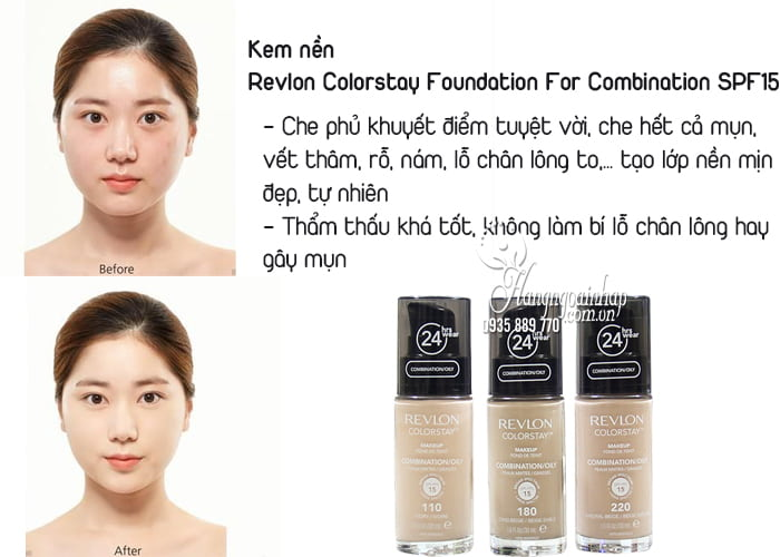 Kem nền Revlon Colorstay Foundation For Combination SPF15 2