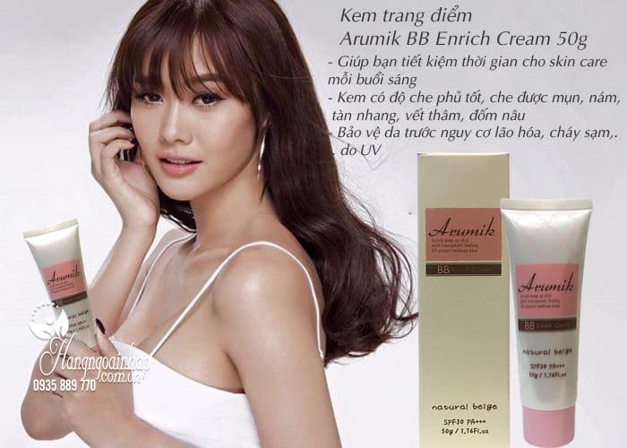 Kem trang điểm Arumik BB Enrich Cream 50g của Nhật Bản 2