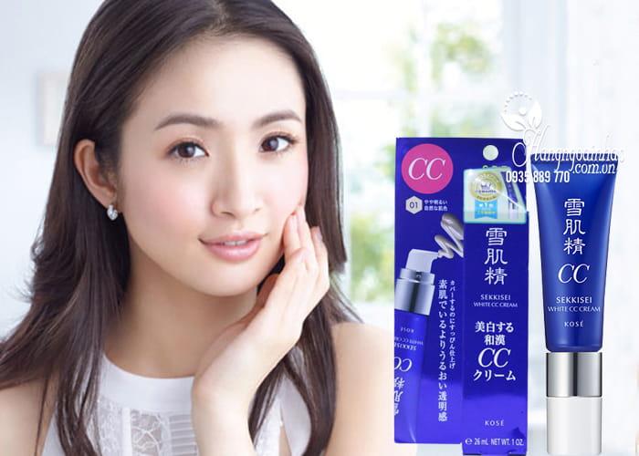 Kem trang điểm đa năng Kose Sekkisei White CC Cream của Nhật 2