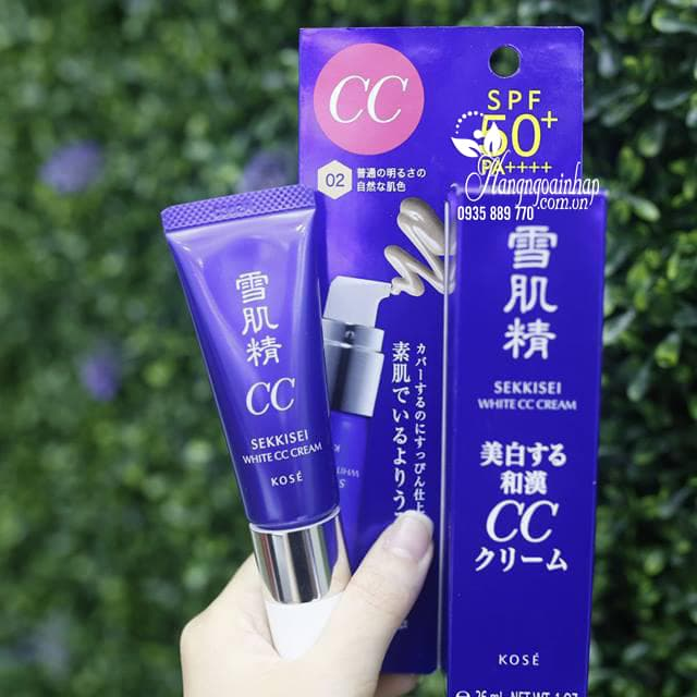 Kem trang điểm đa năng Kose Sekkisei White CC Cream của Nhật 1