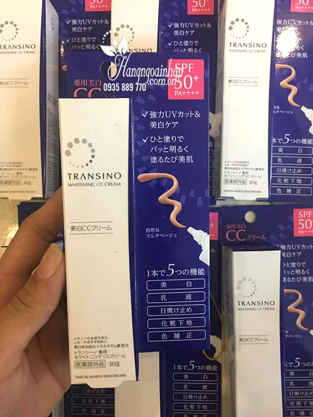 Kem trang điểm dưỡng trắng Transino Whitening CC Cream 30g 7