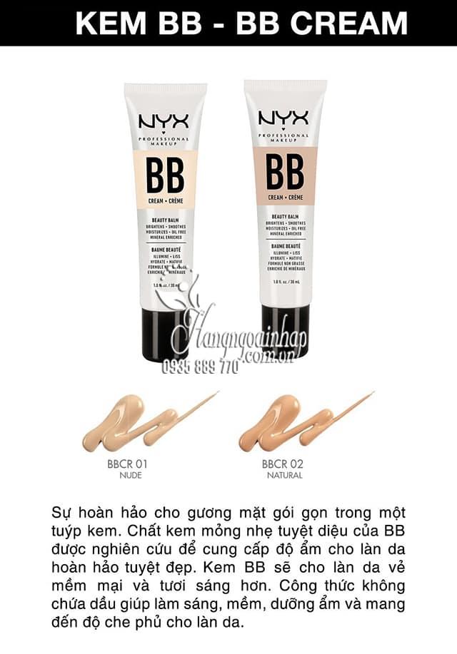 Kem trang điểm NYX BB Cream Beauty Balm 30ml của Mỹ 2