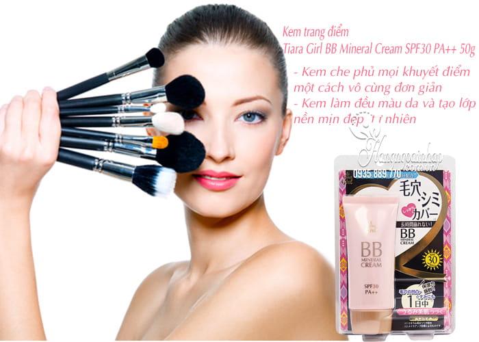 Kem trang điểm Tiara Girl BB Mineral Cream SPF30 PA++ 50g 3