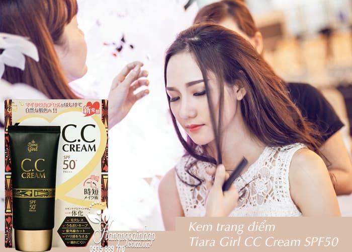 Kem trang điểm Tiara Girl CC Cream SPF50 Nhật Bản tuýp 50ml 2