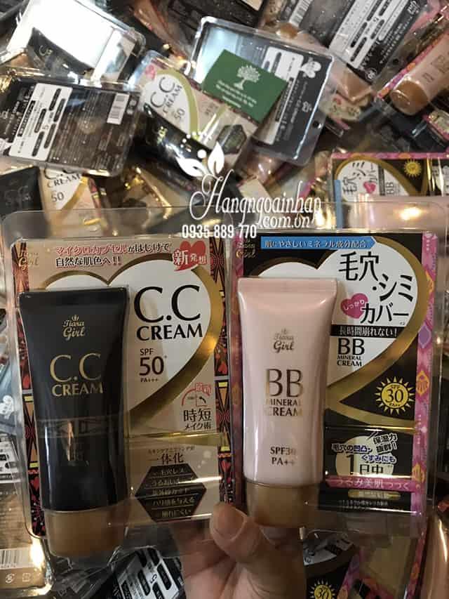 Kem trang điểm Tiara Girl CC Cream SPF50 Nhật Bản tuýp 50ml 8