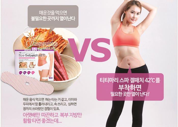 Miếng dán tan mỡ bụng Spa Gelpatch 42 độ C của Hàn Quốc 3