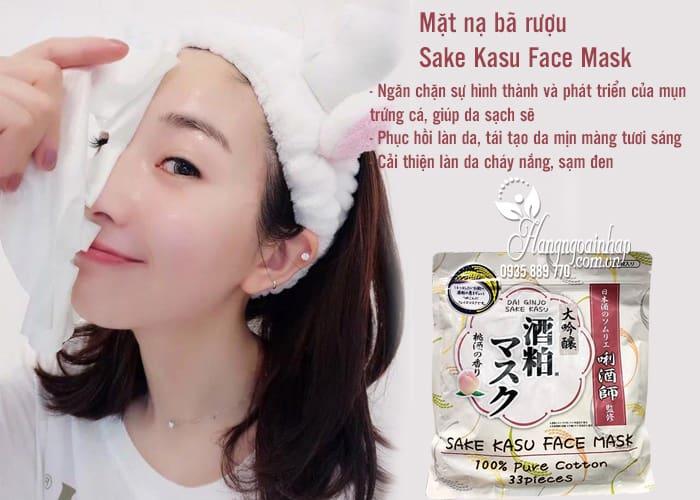 Mặt nạ bã rượu Sake Kasu Face Mask 33 miếng của Nhật Bản 3