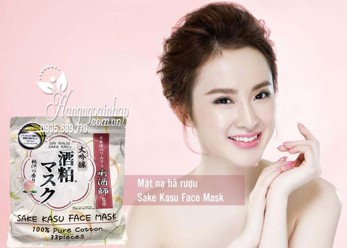 Mặt nạ bã rượu Sake Kasu Face Mask 33 miếng của Nhật Bản 1