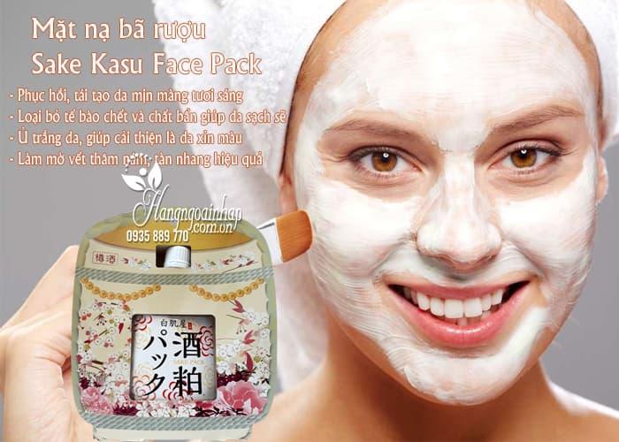 Mặt nạ bã rượu Sake Kasu Face Pack 120g Nhật Bản ủ trắng da 3