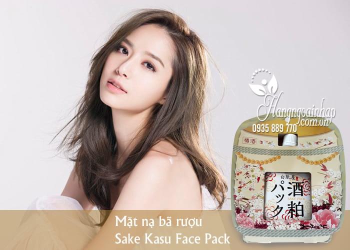 Mặt nạ bã rượu Sake Kasu Face Pack 120g Nhật Bản ủ trắng da 2