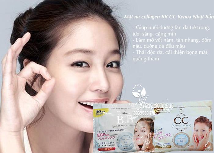 Mặt nạ Collagen BB CC Benoa Nhật Bản túi 30 miếng 3