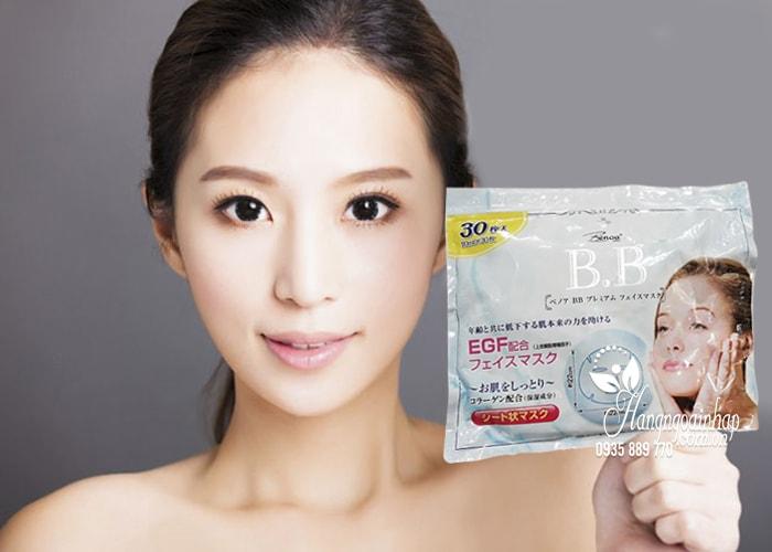 Mặt nạ Collagen BB CC Benoa Nhật Bản túi 30 miếng 5