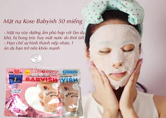 Mặt nạ Kose Babyish 50 miếng của Nhật Bản - dưỡng trắng da 3