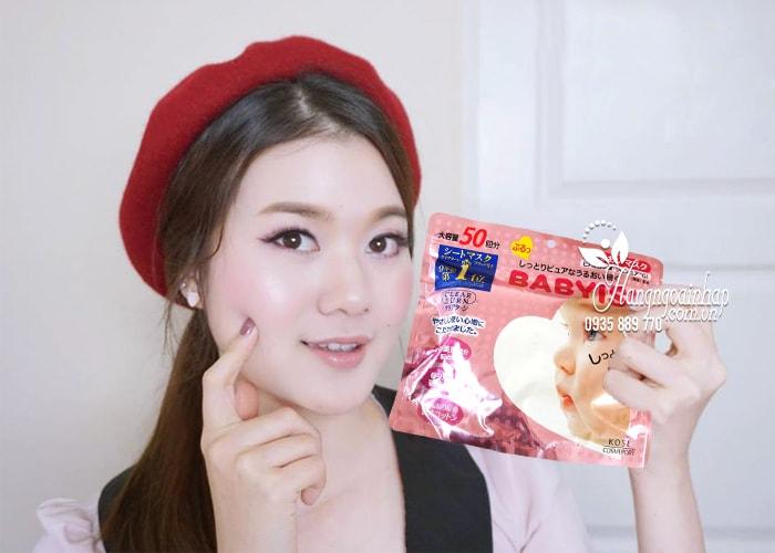 Mặt nạ Kose Babyish 50 miếng của Nhật Bản - dưỡng trắng da 2