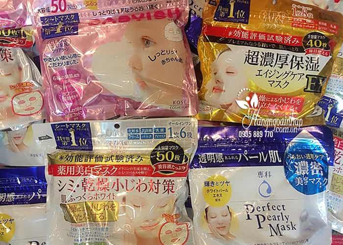 Mặt nạ Kose Babyish 50 miếng của Nhật Bản - dưỡng trắng da 5